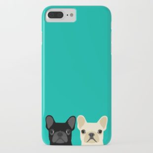 IPHONE & IPOD CASE IPHONE 7 PLUS SLIM CASE 2 French Bulldogs by Anne Was Here