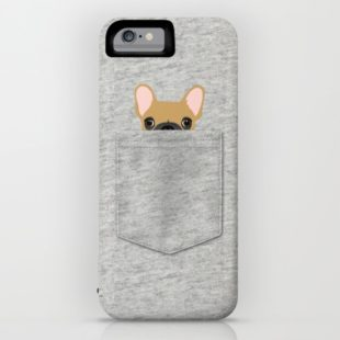 IPHONE & IPOD CASE IPHONE 6 POWER CASE Pocket French Bulldog - Fawn by Anne Was Here