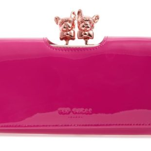 Bulldog Karrine Patent Leather Wallet TED BAKER LONDON