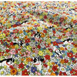 フレブルちゃん♪お花畑で、かくれんぼ☆ オックスプリント