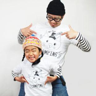 hi-ho!CAMPINGーT-shirt