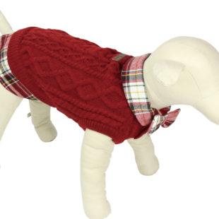 チョウネクタイ付きセーター(Pet Queen)
