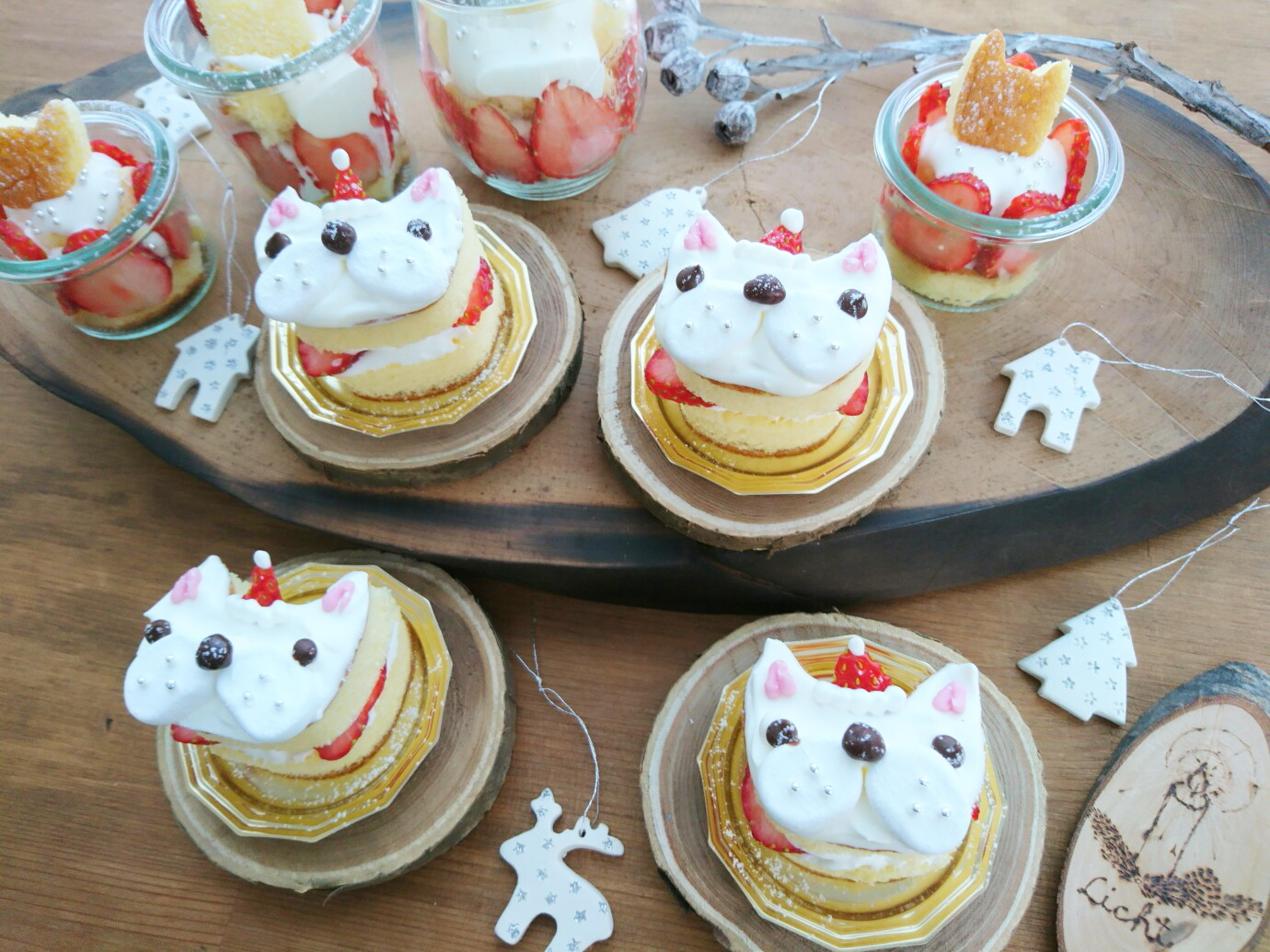 フレンチブルドッグクリスマスケーキ