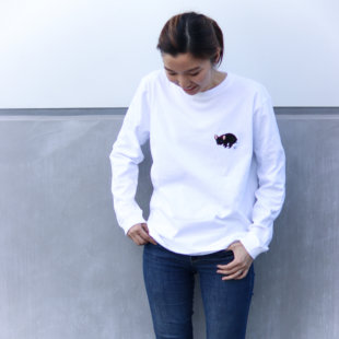 POOPING LONG TEE【FRENCH BULLDOG LIFE × PEGION】