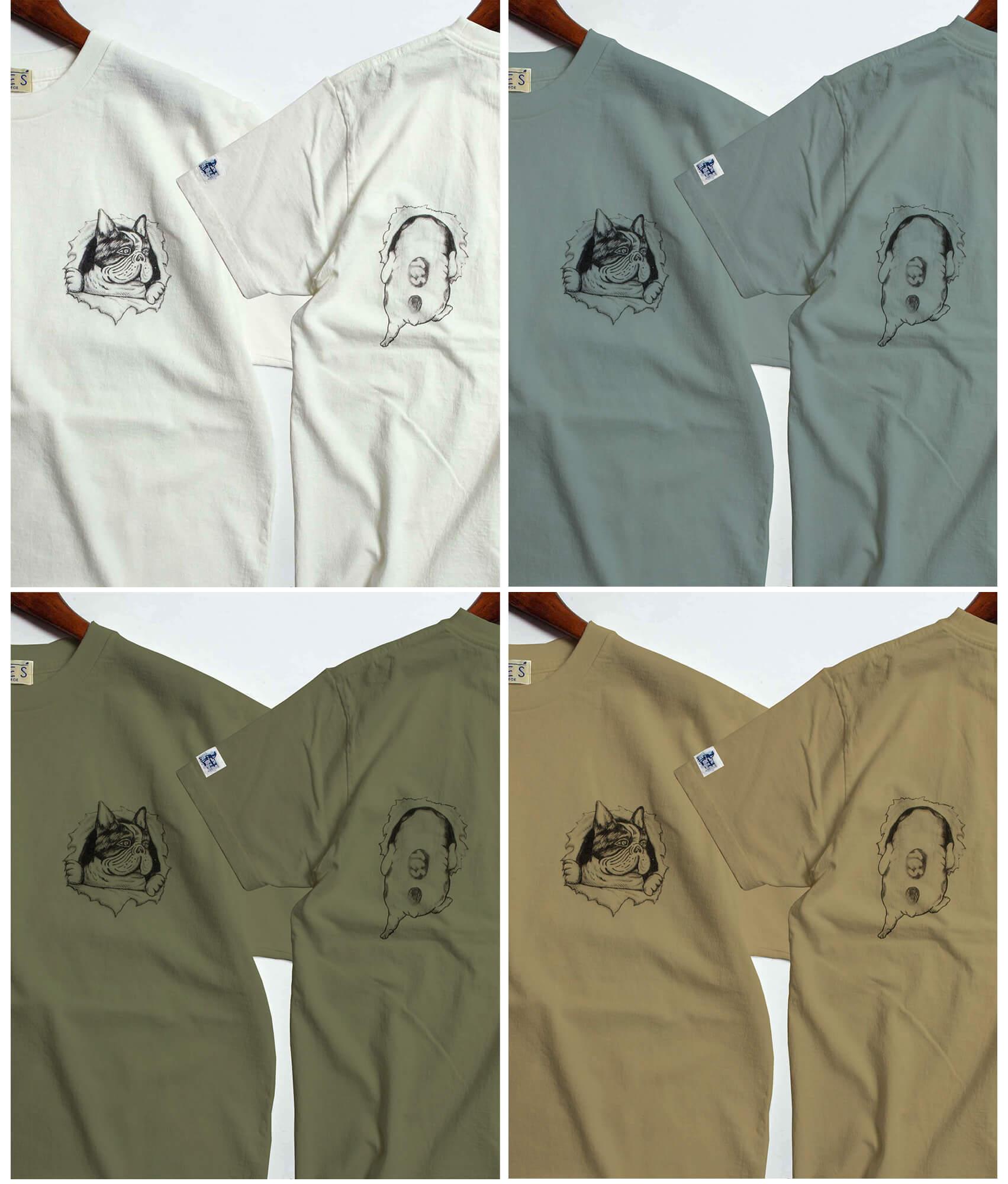フレンチブルドッグ,tes,Tシャツ