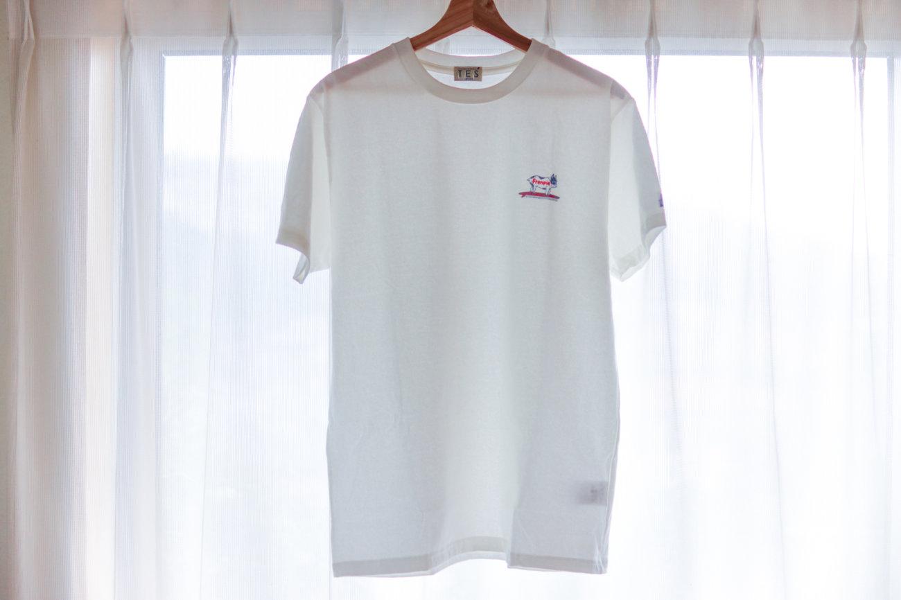 フレンチブルドッグ,tes,ワンポイントTシャツ