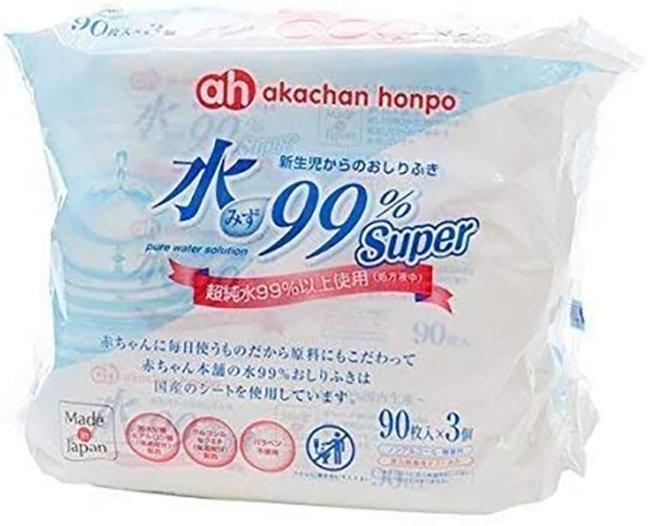 赤ちゃん本舗 水99%Super 新生児からのおしりふき 90枚×3個