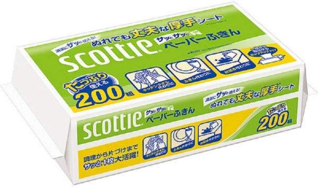 スコッティ ペーパーふきんサッとサッと 200組