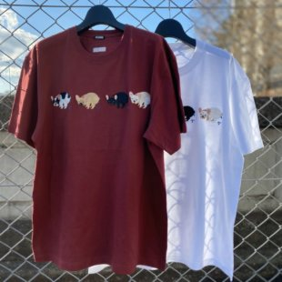 【数量限定】F/B POOPING TEE(FRENCH BULLDOG LIFE × PEGION)
