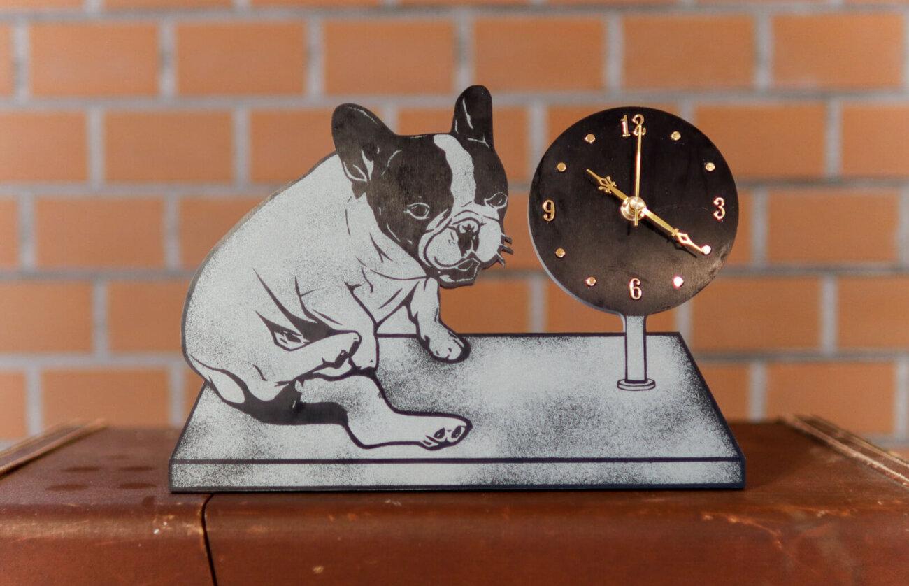 フレンチブルドッグ,時計,チンスリ,オリジナル