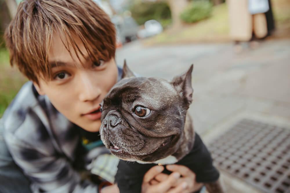 中川大志と愛犬エマ